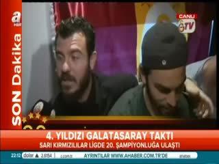 Galatasarayl� futbolcular�n sevinci kamerada