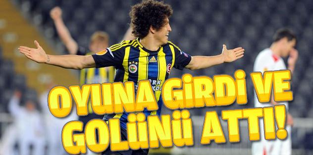 Salih Uçan oyuna girdi golünü attı!