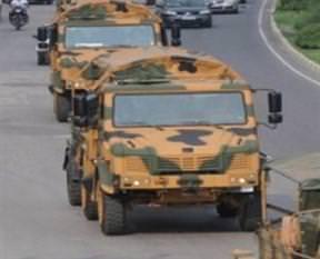 Irak sınırına asker sevkiyatı