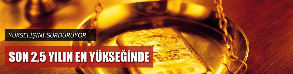 Altın son 2,5 yılın en yüksek seviyesinde