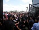Refah S�n�r Kap�s�'nda eylem