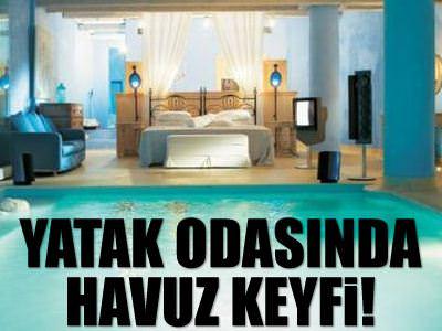Yatak odas�nda havuz!