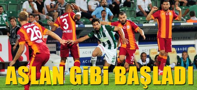 Galatasaray sezona 3 puanla ba�lad�!