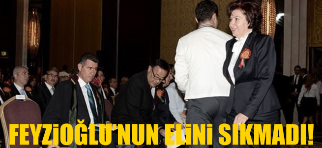 Dan��tay Ba�kan� G�ng�r Feyzio�lu'nun elini s�kmad�