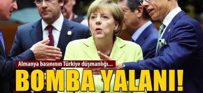 Almanya'n�n bomba yalan�!