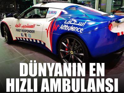 D�nyan�n en h�zl� ambulanslar�