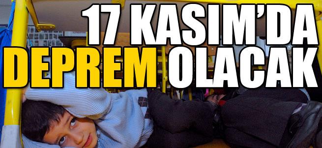 17 Kas�m'da �stanbul'da 'deprem' olacak