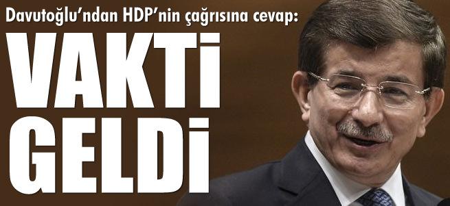 Davuto�lu'ndan HDP'nin �a�r�s�na cevap