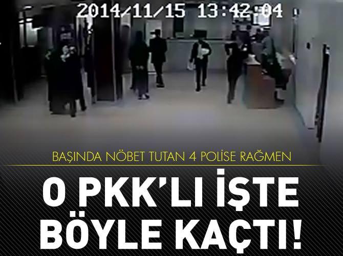 FİRAR EDEN PKK'LI KAMERADA