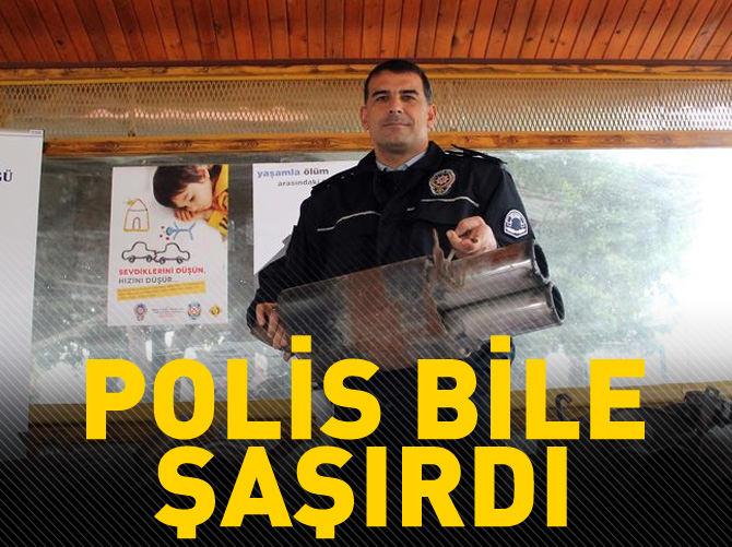 TRAFİK DENETİMİNDE POLİSİ BİLE ŞAŞIRTAN EGZOZLAR