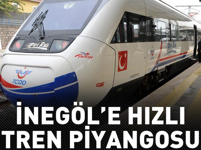 İNEGÖL'E YHT PİYANGOSU