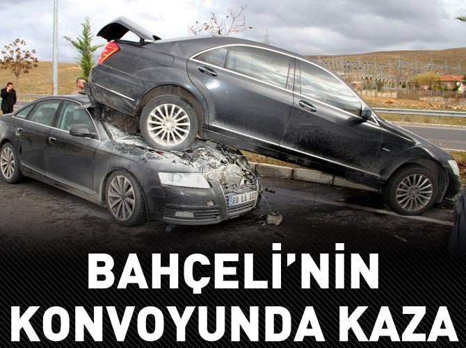 BAHÇELİ'NİN KONVOYUNDA ZİNCİRLEME KAZA