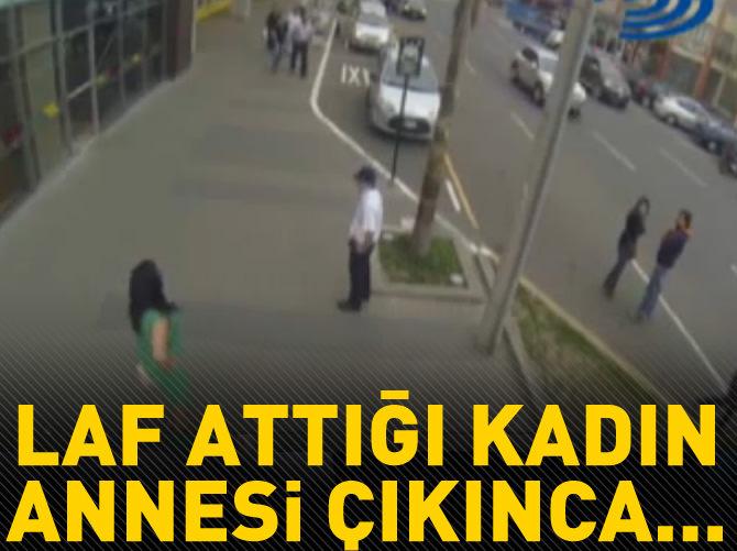 LAF ATTIĞI KADIN ANNESİ ÇIKINCA...