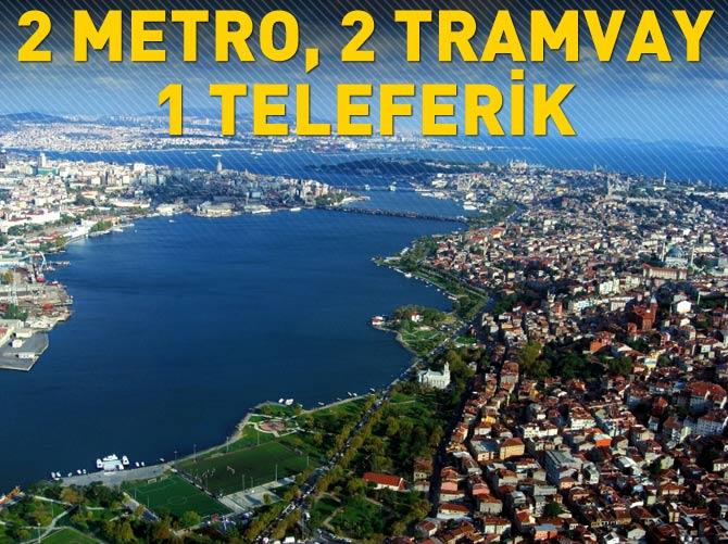 2 METRO, 2 TRAMVAY, 1 TELEFERİK