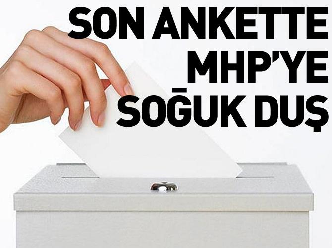 SON ANKETTE MHP'YE SOĞUK DUŞ!