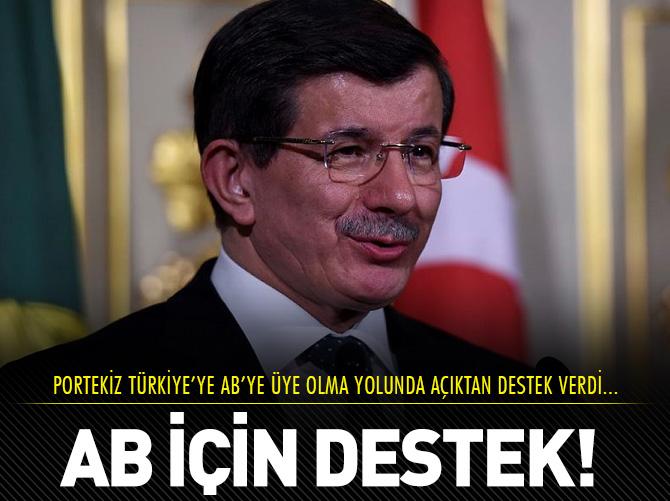 PORTEKİZ'DEN TÜRKİYE'YE AB DESTEĞİ!