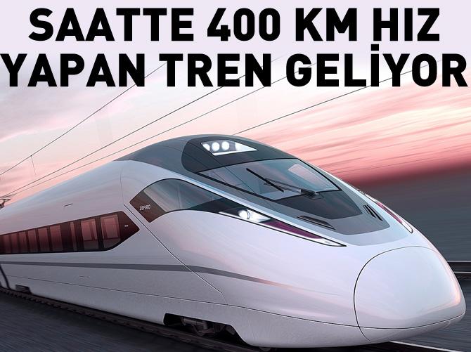 SAATTE 400 KM HIZ YAPAN TRENLER GELİYOR