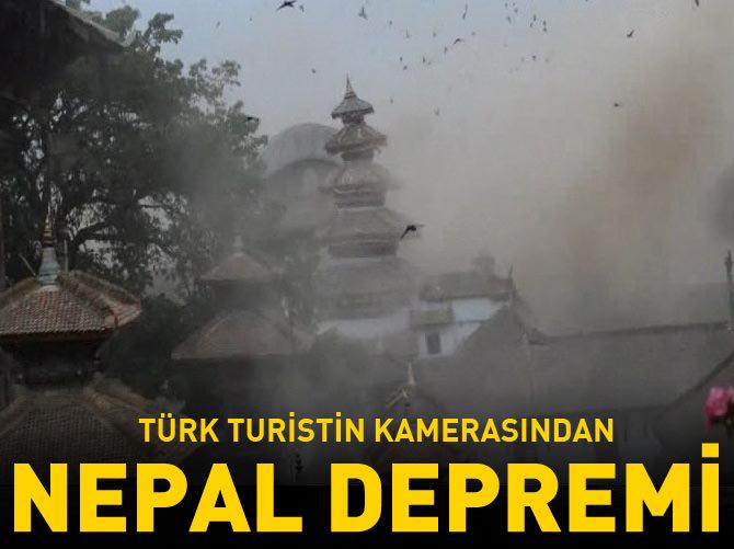 NEPAL DEPREMİNİ TÜRK TURİST GÖRÜNTÜLEDİ