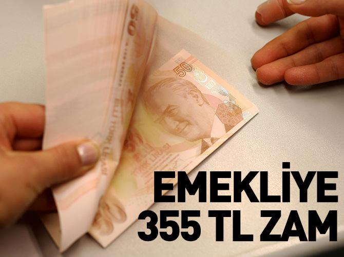 EMEKLİYE İNTİBAK ZAMMI 355 TL