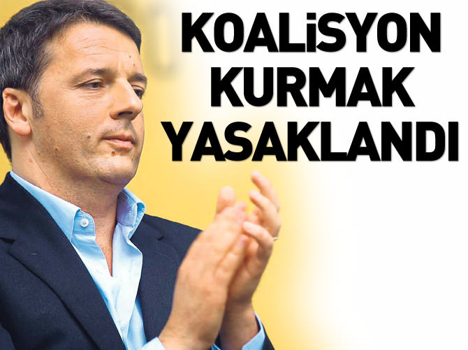 KOALİSYON KURMAK YASAKLANDI
