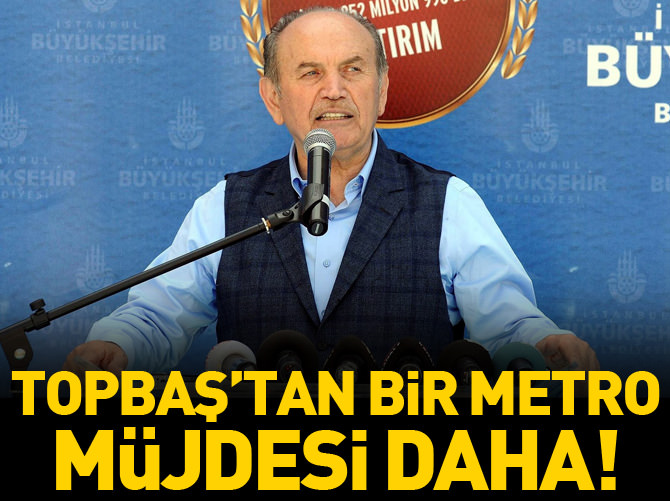 KADİR TOPBAŞ'TAN SARIYER'E METRO MÜJDESİ!