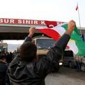Pe�merge konvoyu Kobani yolunda