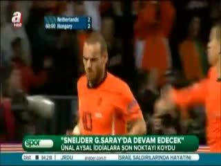 Sneijder G.Saray'da devam edecek