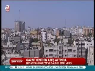 �srail Gazze'yi vuruyor