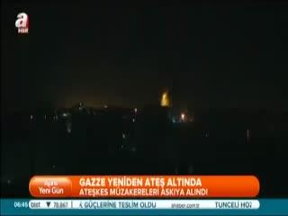 Gazze yeniden ate� alt�nda