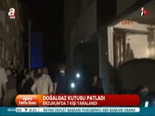 Erzurum'da do�algaz kutusu patlad�