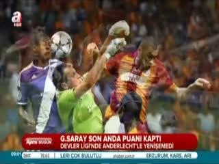 Galatasaray son anda puan� kapt�