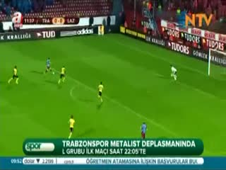 Trabzonspor Metalist deplesman�nda