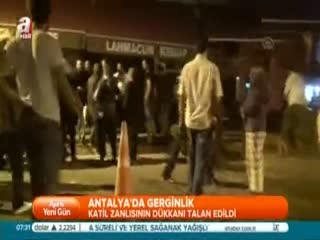 Antalya'da katile tepki
