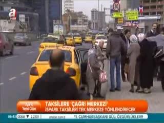 Taksilere '�a�r� merkezi'