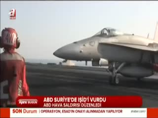 Suriye'de I��D hedefleri vuruldu