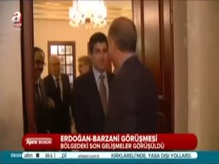 Erdo�an Barzani ile g�r��t�