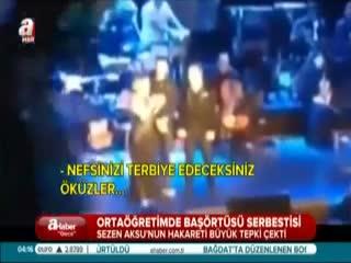 Sezen Aksu'dan 'ba��rt�s�' hakareti