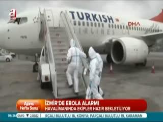 �zmir'de Ebola alarm�