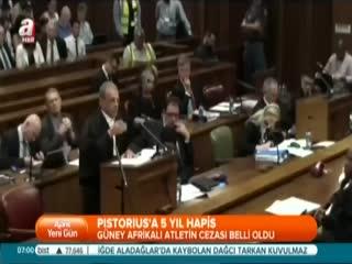 Pistorius 5 y�l hapis