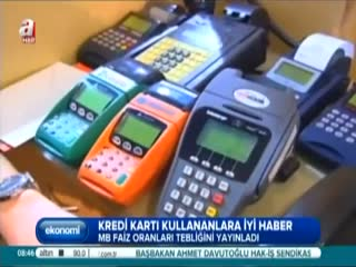 Kredi kart� kullananlara iyi haber