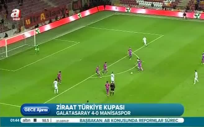 Galatasaray:4 Manisaspor:0 (Maç Özeti)