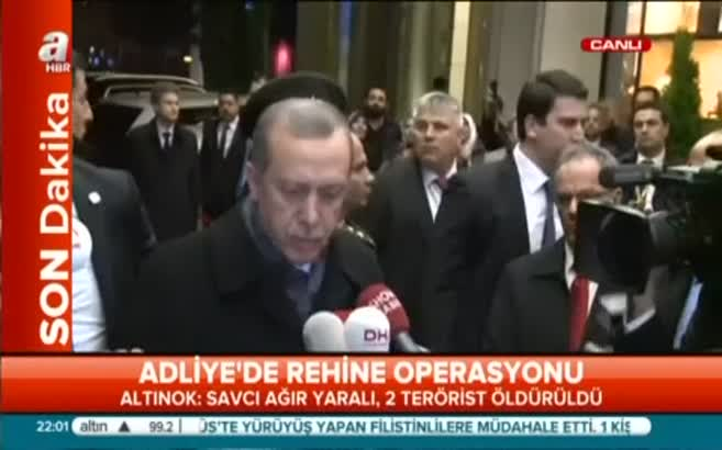 Erdoğan: Teröristler avukat cübbesi ile girmiştir