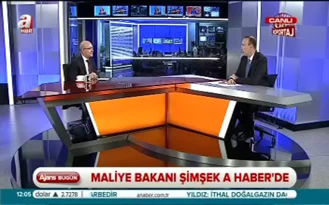 Maliye Bakanı Şimşek A Haber'e konuk oldu