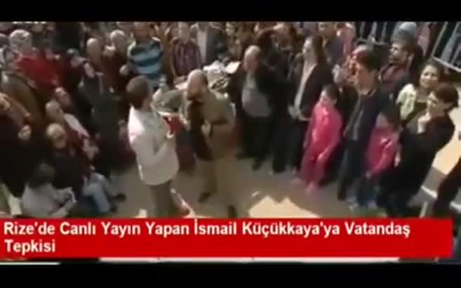 Rize'de yayın yapan İsmail Küçükkaya'ya şok!
