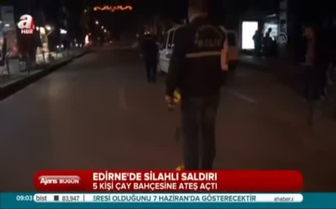 Edirne'de silahlı saldırı