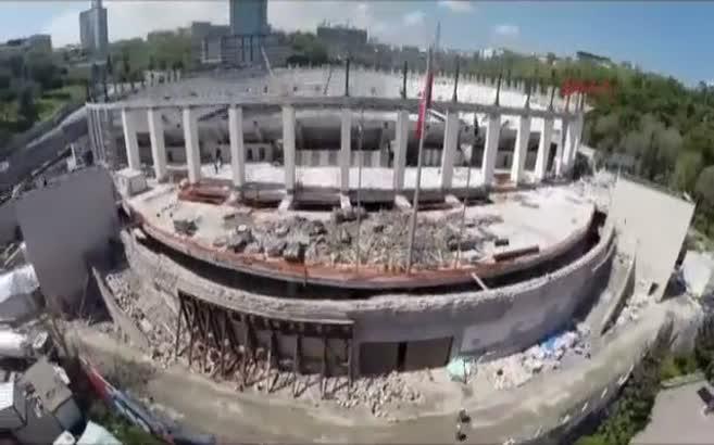 Beşiktaş'ın stadının kaba inşaatı tamamlandı