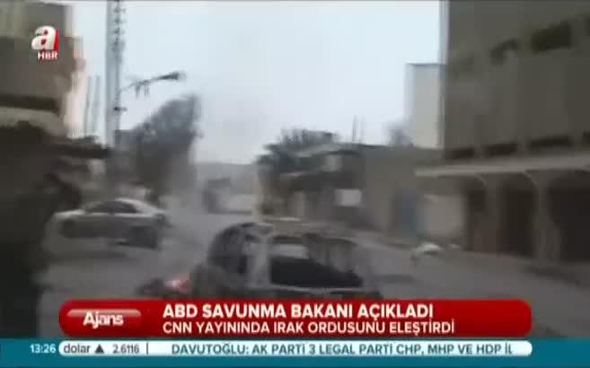 CNN yayınında Irak ordusunu eleştirdi