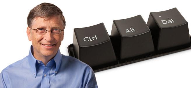Bill Gates: Ctrl+Alt+Del bir hataydı