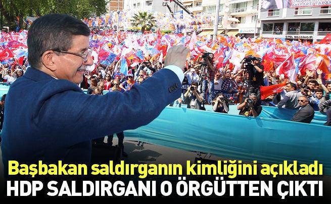 Başbakan Davutoğlu Sinop mitinginde HDP binalarına saldırı yapan saldırganın kimliğini açıkladı
