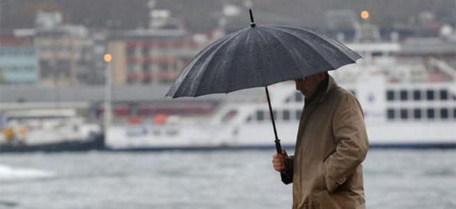 İstanbul'da gök gürültülü yağmur başladı